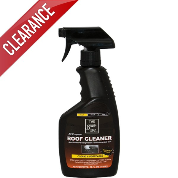The Brushman Rubber Seal Roof Cleaner 16oz Tape Cleaner