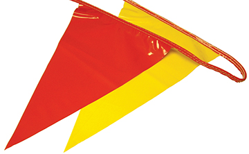 The Brushman 100 Ft Osha Pennant Flags Red Yellow