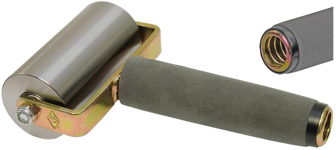 The Brushman 2 Quot X4 Quot Steel Seam Roller W Threaded Steel