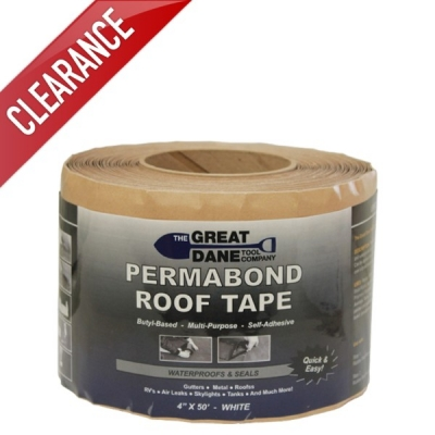 "4"" x 50' Black Permabond Roof Tape (Roll)"