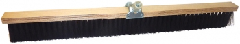 "24"" Concrete Finishing Broom w/Adjustable Handle Socket & Black Styrene Fill"