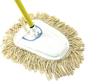 Cotton Wedge Mop w/Frame & Handle