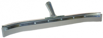 "24"" Curved Serrated Edge Floor Squeegee (1/4"" V-Notch)"