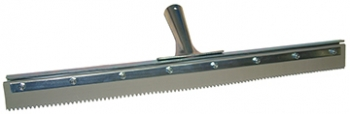 "30"" Serrated Edge Floor Squeegee (1/2"" V-Notch)"