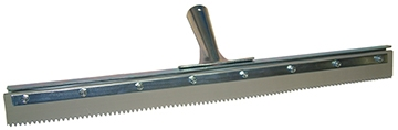 "30"" Serrated Edge Floor Squeegee (1/4"" V-Notch)"
