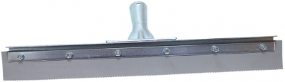 "18"" Serrated Edge Floor Squeegee (1/8"" V-Notch)"
