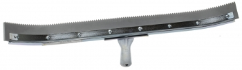 "24"" Curved Serrated Edge Floor Squeegee (3/16"" V-Notch)"