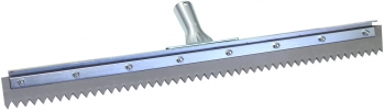 "24"" Serrated Edge Floor Squeegee (1/2"" V-Notch)"