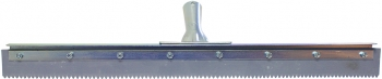 "24"" Serrated Edge Floor Squeegee (1/4"" V-Notch)"