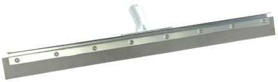 "24"" Serrated Edge Floor Squeegee (1/8"" V-Notch)"