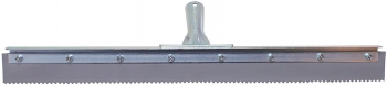 "24"" Serrated Edge Floor Squeegee (3/16"" V-Notch)"
