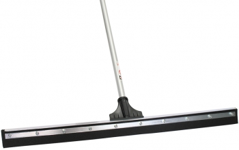 "30"" Black Sponge Floor Squeegee w/Aluminum Handle"