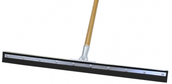 "30"" Black Sponge Floor Squeegee w/Wood Handle"