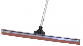 "30"" Red Sponge Floor Squeegee w/Aluminum Handle"