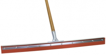 "30"" Red Sponge Floor Squeegee w/Wood Handle"