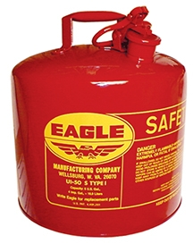 5-GAL Metal Gas Container w/Funnel