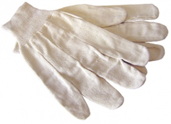 White Cotton Canvas Glove - Size L