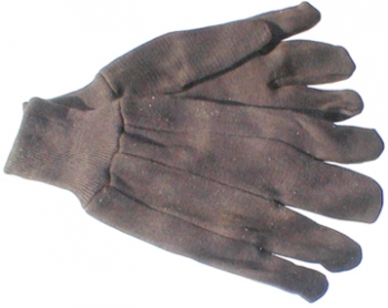 Brown Jersey Gloves - Size L