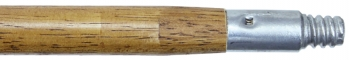 "60"" x 1-1/8"" Wood Handle w/Metal Thread"