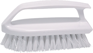 "6"" Scrub Brush w/""Iron-Style"" Handle & Poly Fill"
