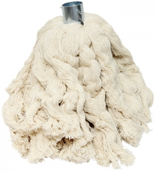 "2.5lb White Cotton ""Pin Style"" Roofing Mop Head"