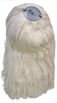 "2.5lb White Cotton ""Screw Style"" Roofing Mop Head"
