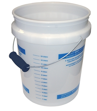 5-Gallon Plastic Pail w/Handle & Graduated Markings