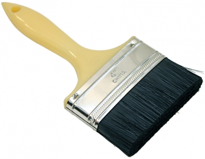 "4"" Adhesive Roofing Brush w/Stiff Synthetic Fill"