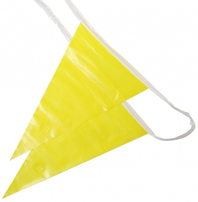 100' OSHA Pennant Flags (Yellow)
