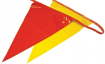 100' OSHA Pennant Flags (Red/Yellow)