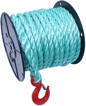 "5/8"" X 100' Cobalt Blue Poly Rope w/Snap-Hook"