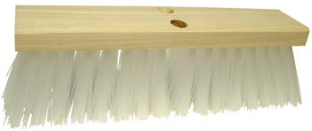 "16"" Street Broom w/White Poly Fill"