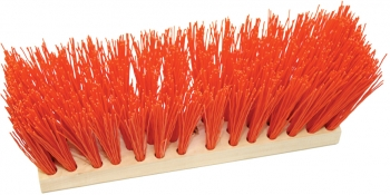 "16"" Street Broom w/Orange Poly Fill"