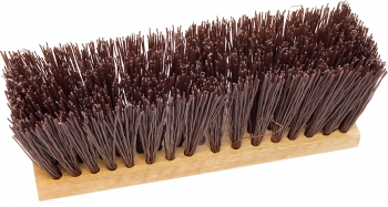 "16"" Street Broom w/Brown Poly Fill"