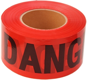 "3"" X 300' Red Danger Tape (Roll)"