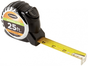 "25 ft. Keson ""AutoLock"" Tape Measure"