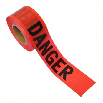 "3"" x 1000' Red Danger Tape (Roll)"